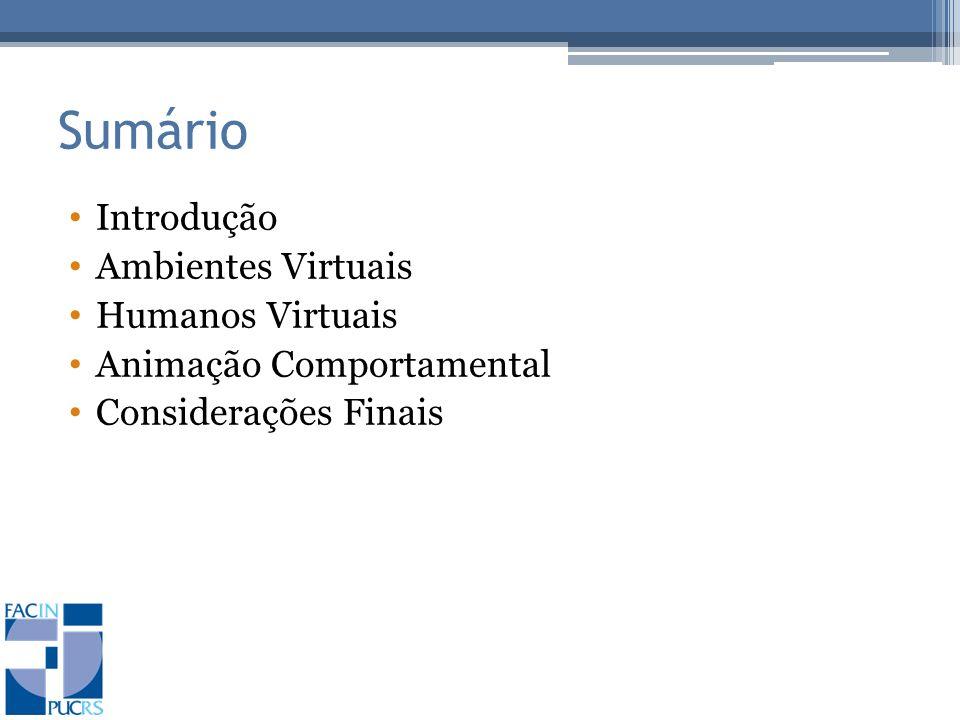 Ambientes Virtuais e Semântica Representing the Semantics of Virtual Spaces (Chen, 1999) Categoriza os espaços virtuais em eixos Representação: textual – gráfica Uso: recreativo – profissional Análise da aplicação de semântica em ambientes virtuais Estudo de caso: StarWalker