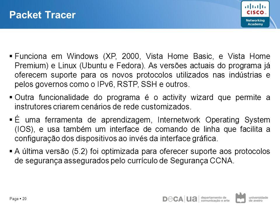Page 20 Funciona em Windows (XP, 2000, Vista Home Basic, e Vista Home Premium) e Linux (Ubuntu e Fedora). As versões actuais do programa já oferecem s
