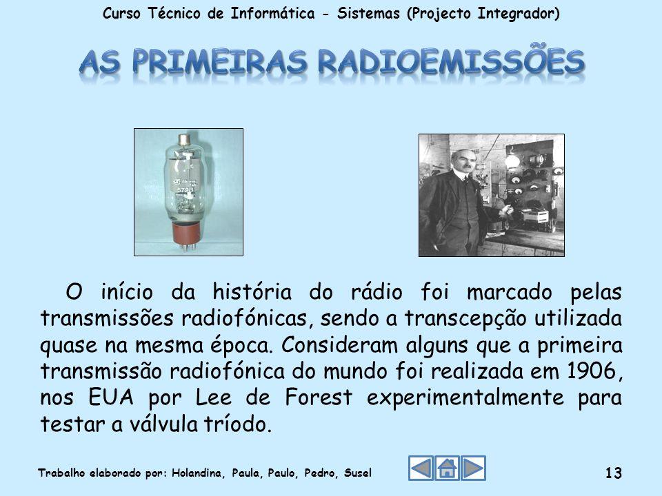 O início da história do rádio foi marcado pelas transmissões radiofónicas, sendo a transcepção utilizada quase na mesma época. Consideram alguns que a