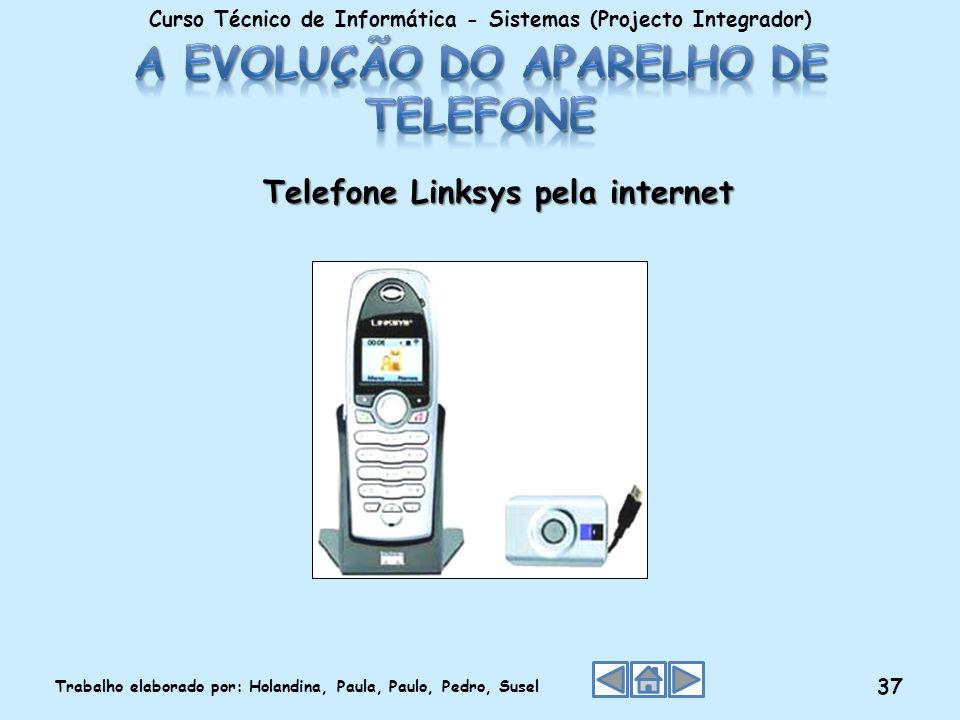 Telefone Linksys pela internet Curso Técnico de Informática - Sistemas (Projecto Integrador) Trabalho elaborado por: Holandina, Paula, Paulo, Pedro, S