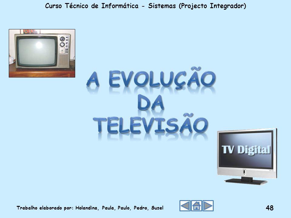 Curso Técnico de Informática - Sistemas (Projecto Integrador) Trabalho elaborado por: Holandina, Paula, Paulo, Pedro, Susel 48