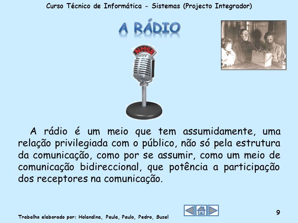 A rádio é um meio que tem assumidamente, uma relação privilegiada com o público, não só pela estrutura da comunicação, como por se assumir, como um me