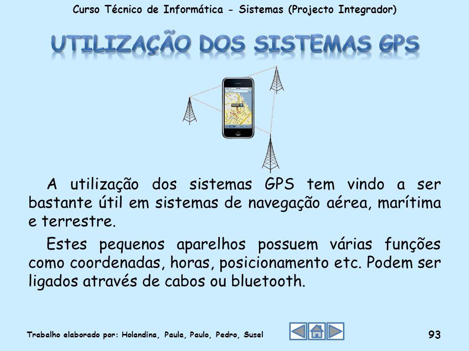 A utilização dos sistemas GPS tem vindo a ser bastante útil em sistemas de navegação aérea, marítima e terrestre. Estes pequenos aparelhos possuem vár