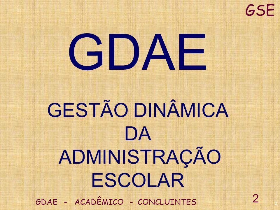 1 GDAE - ACADÊMICO - CONCLUINTES GSE 1