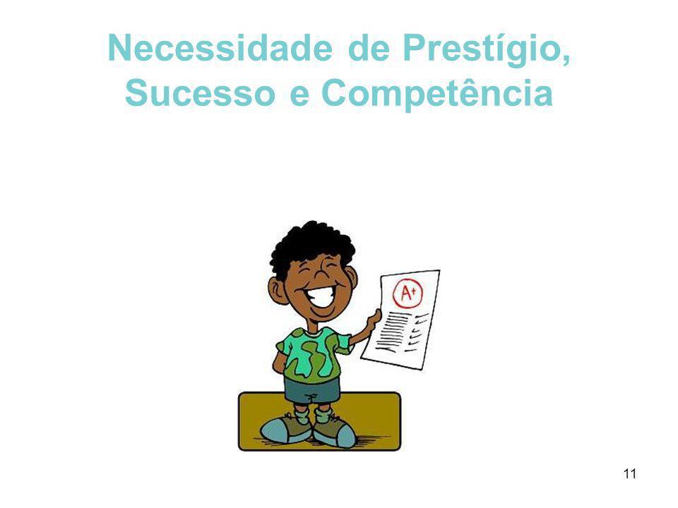 11 Necessidade de Prestígio, Sucesso e Competência
