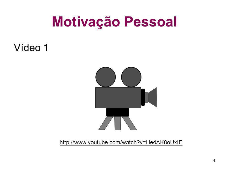 4 Motivação Pessoal Vídeo 1 http://www.youtube.com/watch?v=HedAK8oUxIE