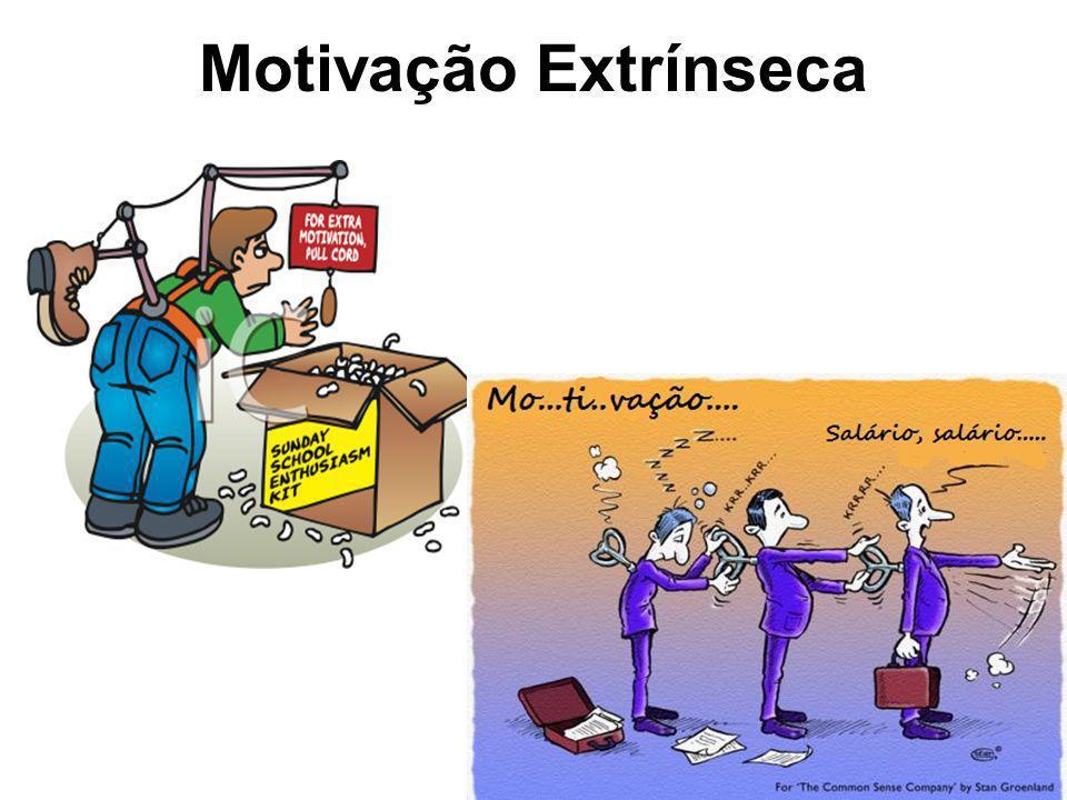 9 Motivação Extrínsica Esforço em fazer algo para receber uma recompensa (material, emocional, verbal, etc…) Reforços / Incentivos externos