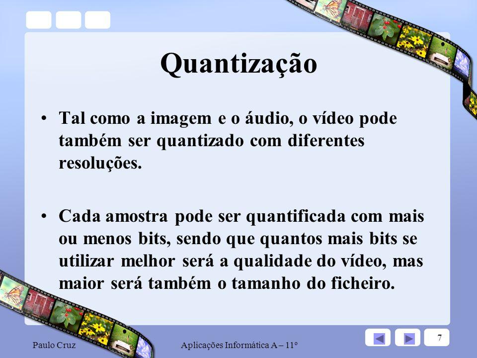 Paulo CruzAplicações Informática A – 11º 18 MPEG 4 O MPEG 2 possibilita uma qualidade de imagem fantástica, mas os arquivos ainda são grandes demais para várias aplicações, como por exemplo, transmissão de vídeo pela Internet.