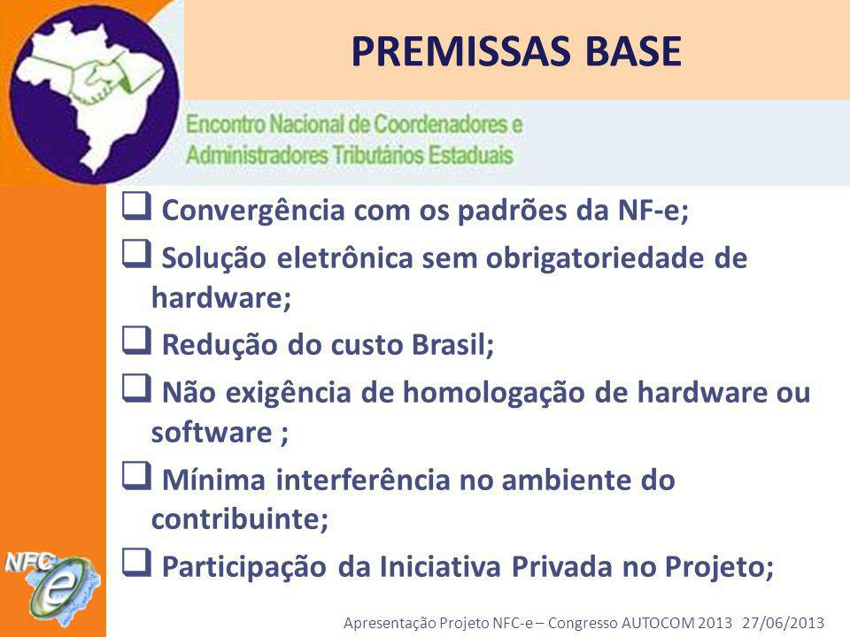 Apresentação Projeto NFC-e – Congresso AUTOCOM 2013 27/06/2013 Notícia exibida dia 06/03/2013 no programa Bom Dia Amazônia na Rede Amazônica, afiliada da Rede Globo http://g1.globo.com/am/amazonas/bom-dia- amazonia/videos/t/edicoes/v/o-amazonas-e-o-primeiro-estado-do- brasil-a-emitir-a-nota-fiscal-eletronica-ao-consumidor/2443478/