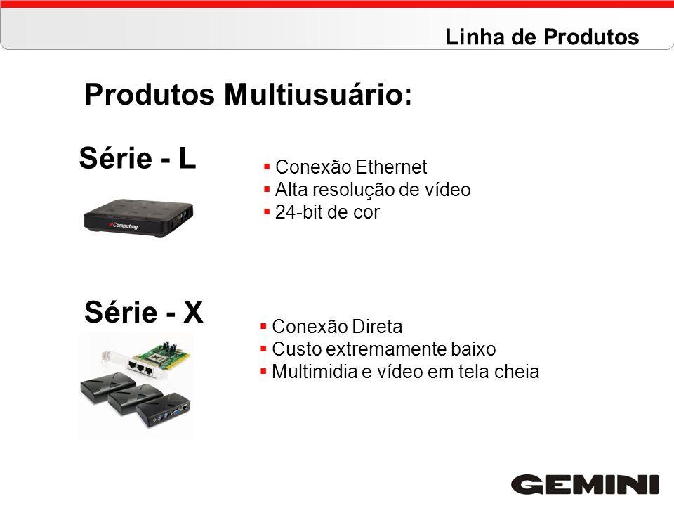 Série - L Série - X Conexão Ethernet Alta resolução de vídeo 24-bit de cor Conexão Direta Custo extremamente baixo Multimidia e vídeo em tela cheia Pr