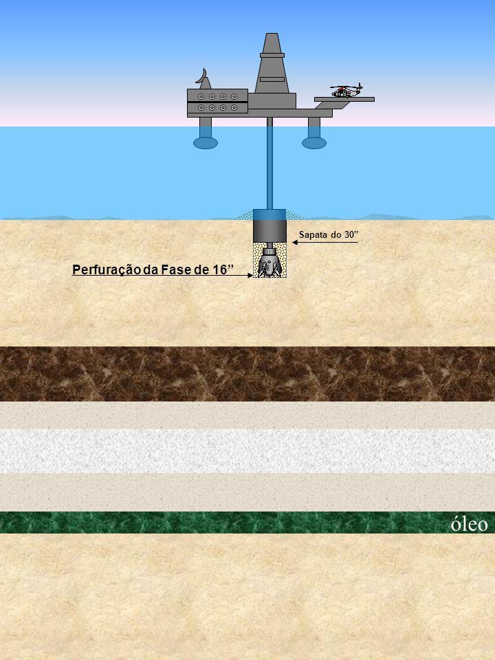 óleo Perfuração da Fase de 16 Sapata do 30