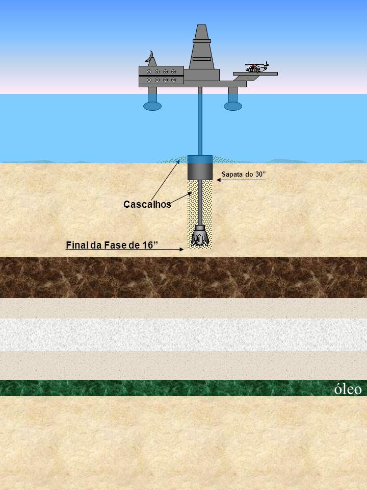 óleo Final da Fase de 16 Cascalhos Sapata do 30