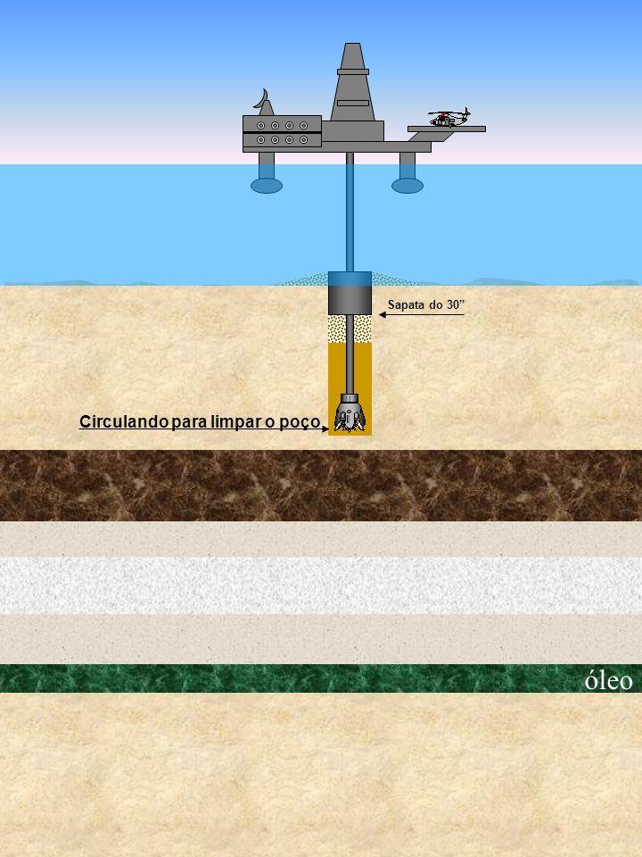 óleo Circulando para limpar o poço Sapata do 30