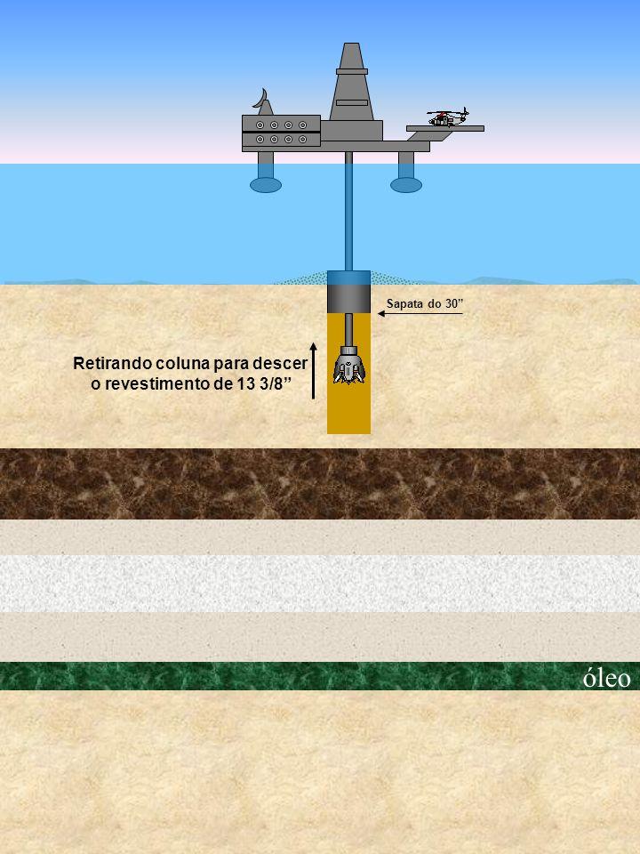 óleo Retirando coluna para descer o revestimento de 13 3/8 Sapata do 30