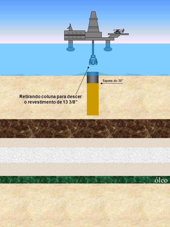 óleo Sapata do 30 Retirando coluna para descer o revestimento de 13 3/8