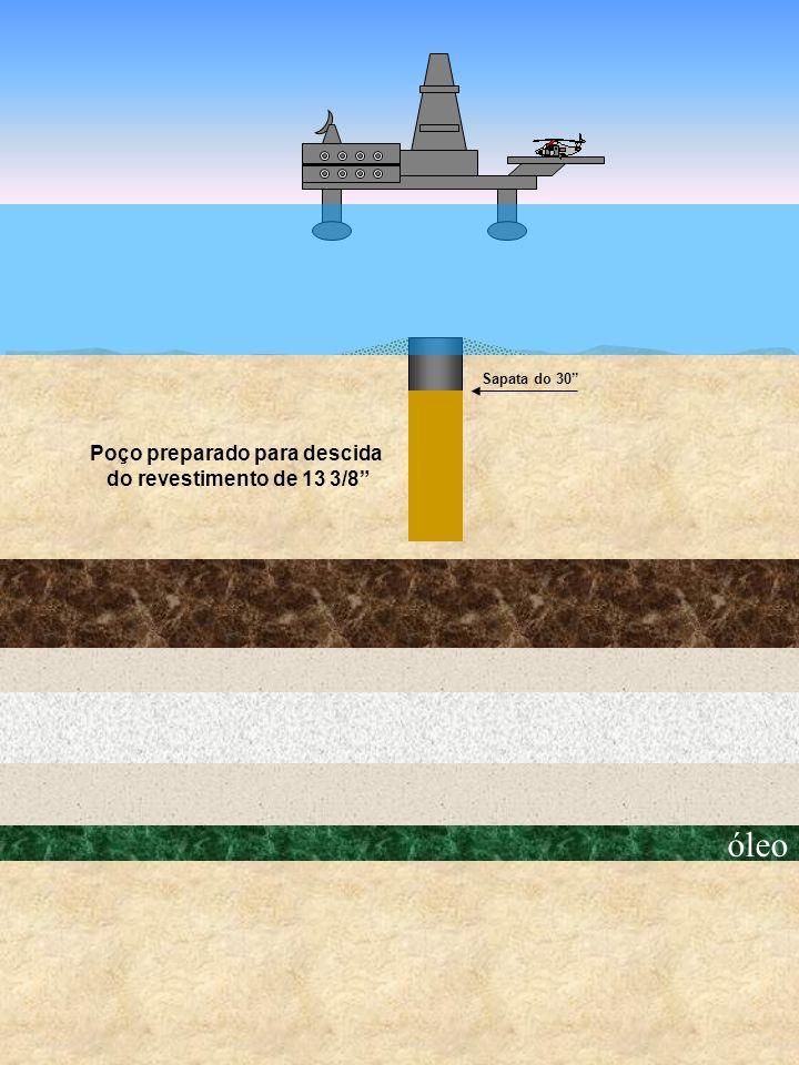 óleo Sapata do 30 Poço preparado para descida do revestimento de 13 3/8