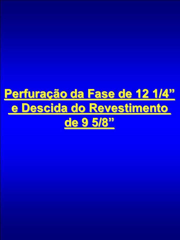 Perfuração da Fase de 12 1/4 e Descida do Revestimento e Descida do Revestimento de 9 5/8