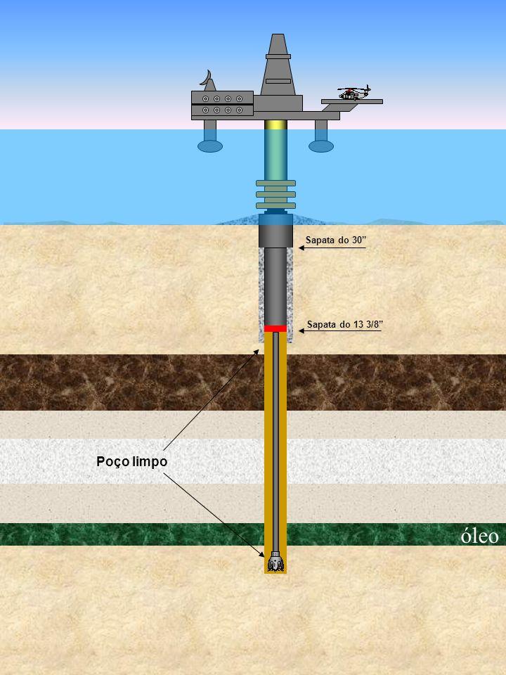 óleo Sapata do 30 Sapata do 13 3/8 Poço limpo