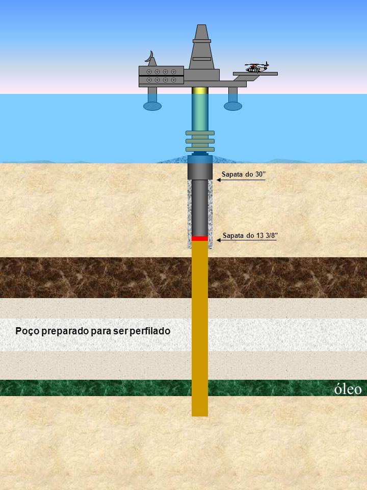 óleo Sapata do 30 Sapata do 13 3/8 Poço preparado para ser perfilado