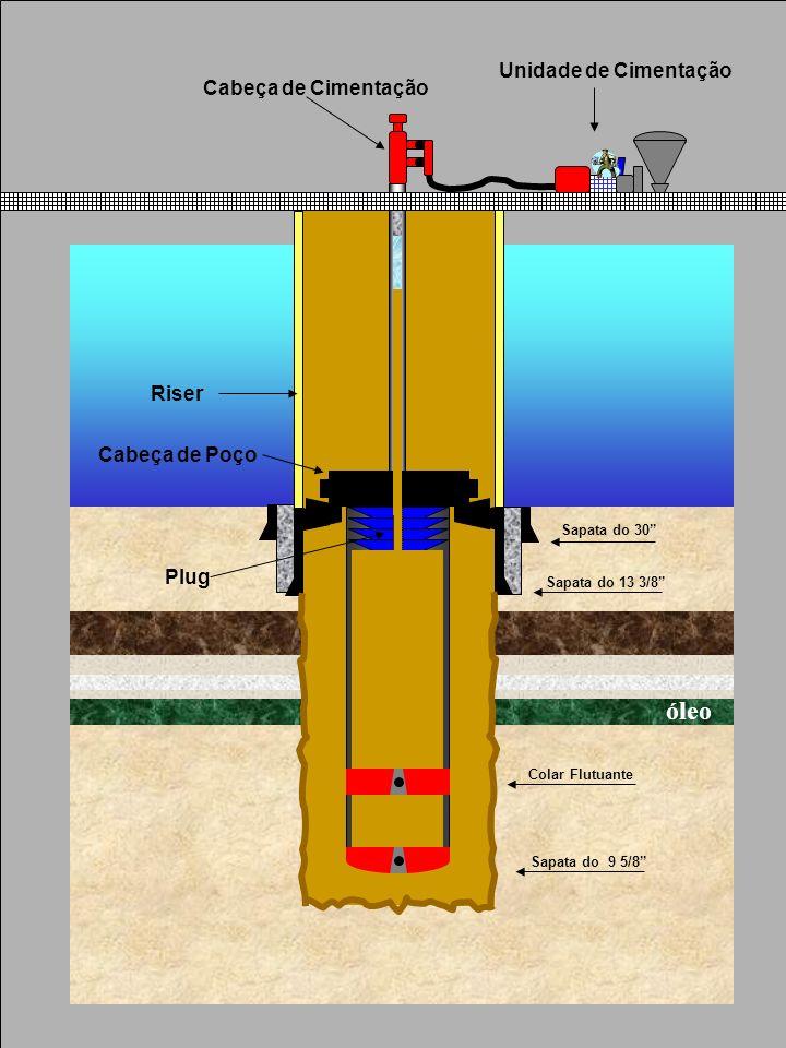 Sapata do 30 Sapata do 13 3/8 Sapata do 9 5/8 Riser Cabeça de Poço Cabeça de Cimentação Unidade de Cimentação Plug Colar Flutuante óleo