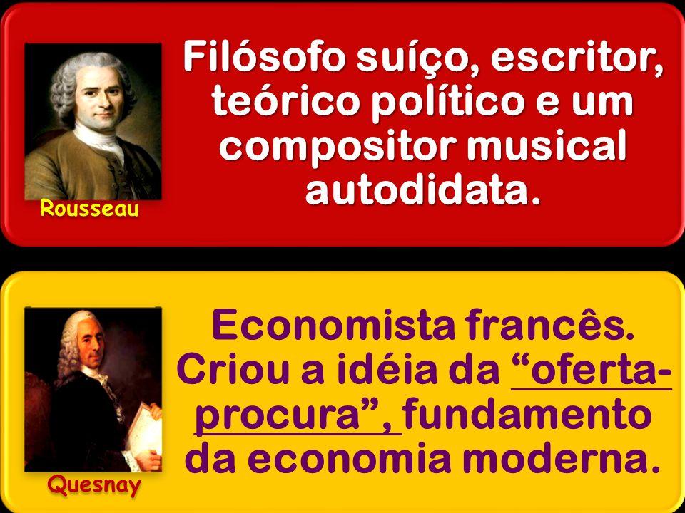 Filósofo suíço, escritor, teórico político e um compositor musical autodidata. Economista francês. Criou a idéia da oferta- procura, fundamento da eco