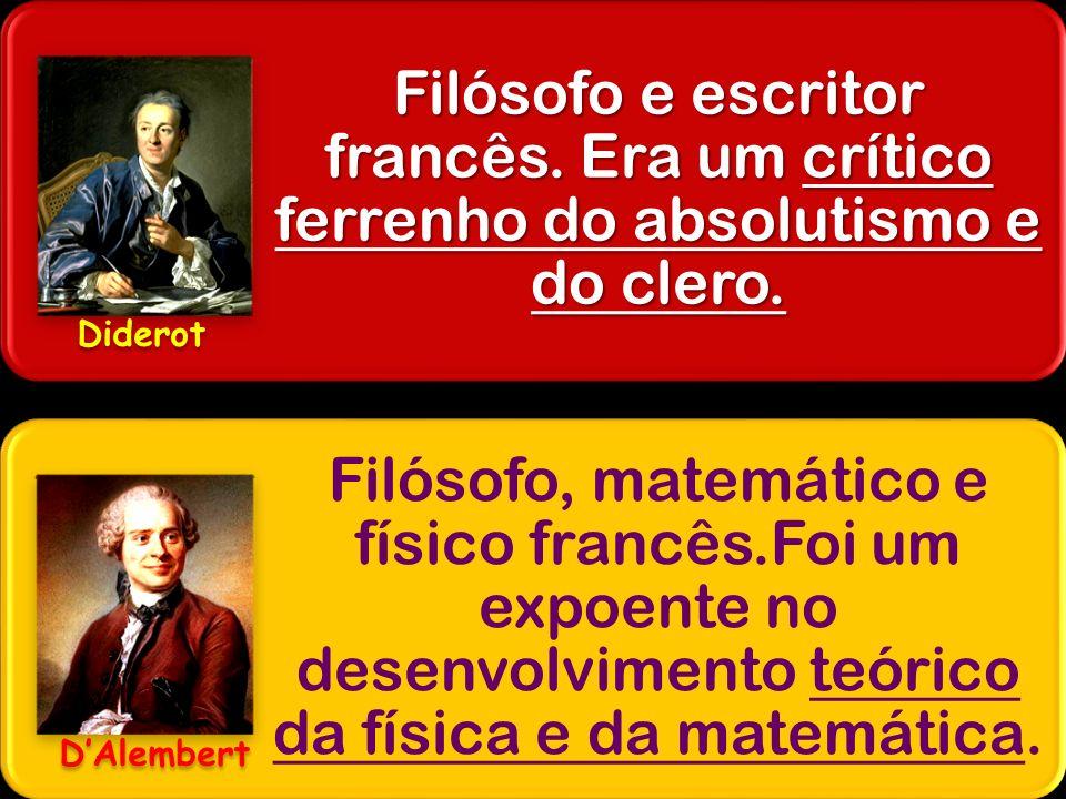 Filósofo e escritor francês. Era um crítico ferrenho do absolutismo e do clero. Filósofo, matemático e físico francês.Foi um expoente no desenvolvimen