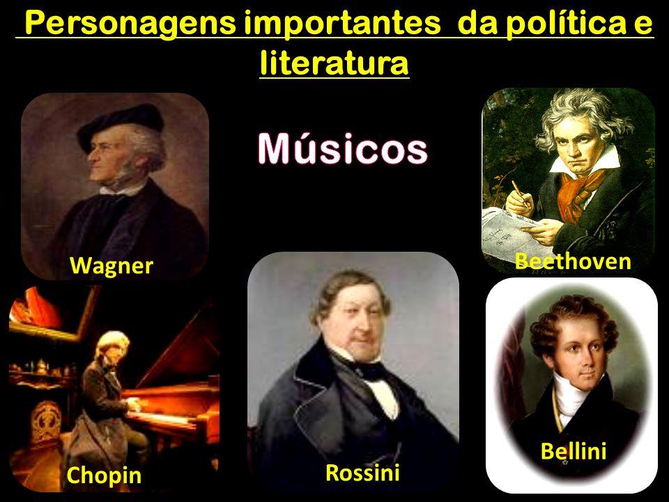 Personagens importantes da política e literatura Personagens importantes da política e literatura Wagner Beethoven Chopin Rossini Bellini