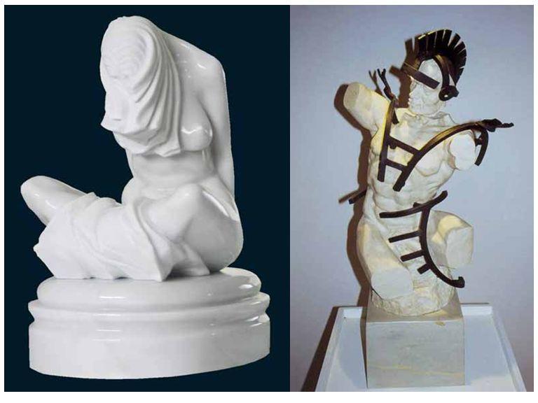 No seu trabalho em Portugal foi seleccionado como uma das vanguardas artísticas que se vêem no livro Cerâmica e Escultura, Painel de artistas do autor