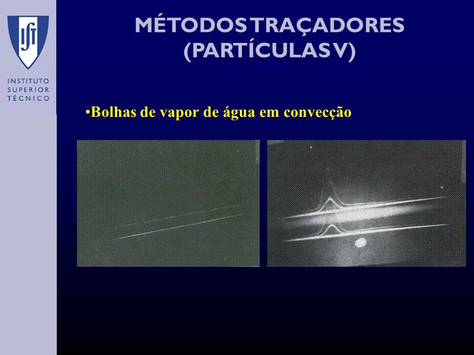 MÉTODOS TRAÇADORES (PARTÍCULAS V) Bolhas de vapor de água em convecção