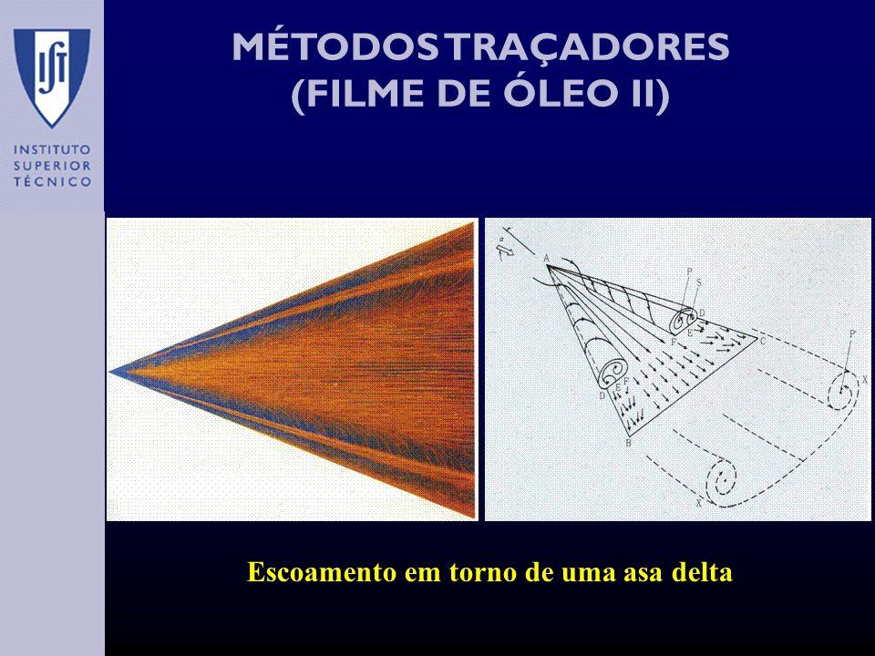 MÉTODOS TRAÇADORES (FILME DE ÓLEO II) Escoamento em torno de uma asa delta