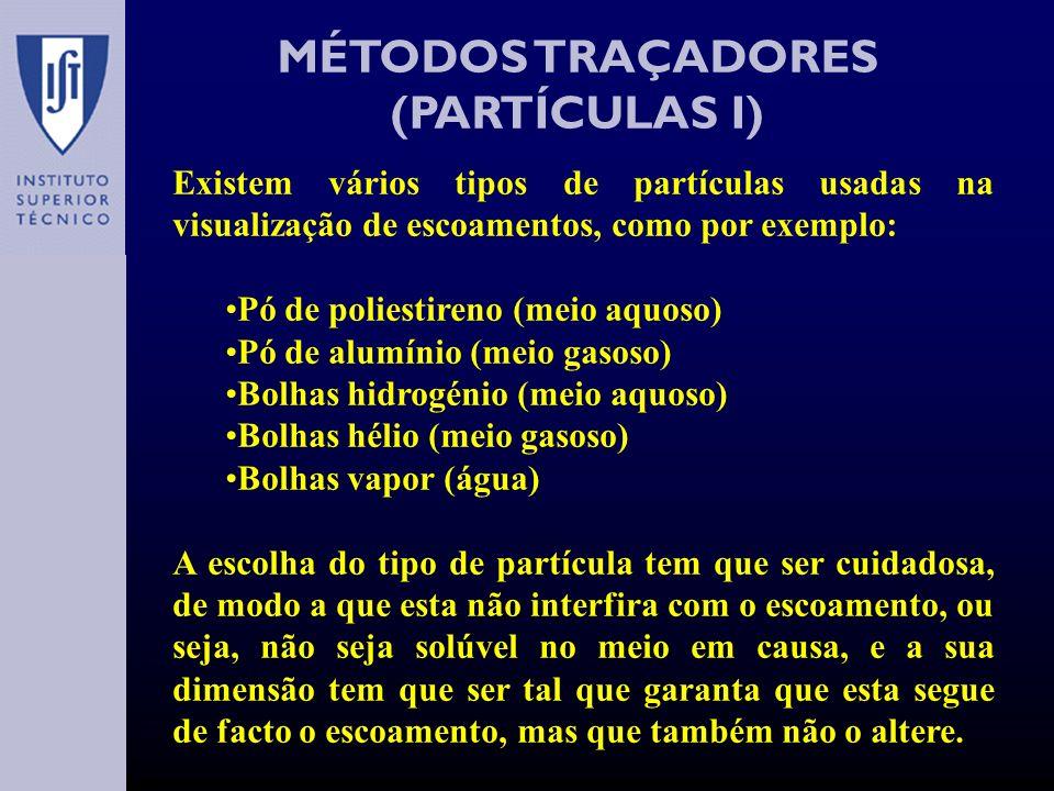 MÉTODOS TRAÇADORES (CRISTAIS LÍQUIDOS II) Esta técnica é especialmente indicada para a medição de tensões superficiais.