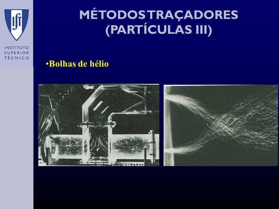 MÉTODOS TRAÇADORES (PARTÍCULAS III) Bolhas de hélio