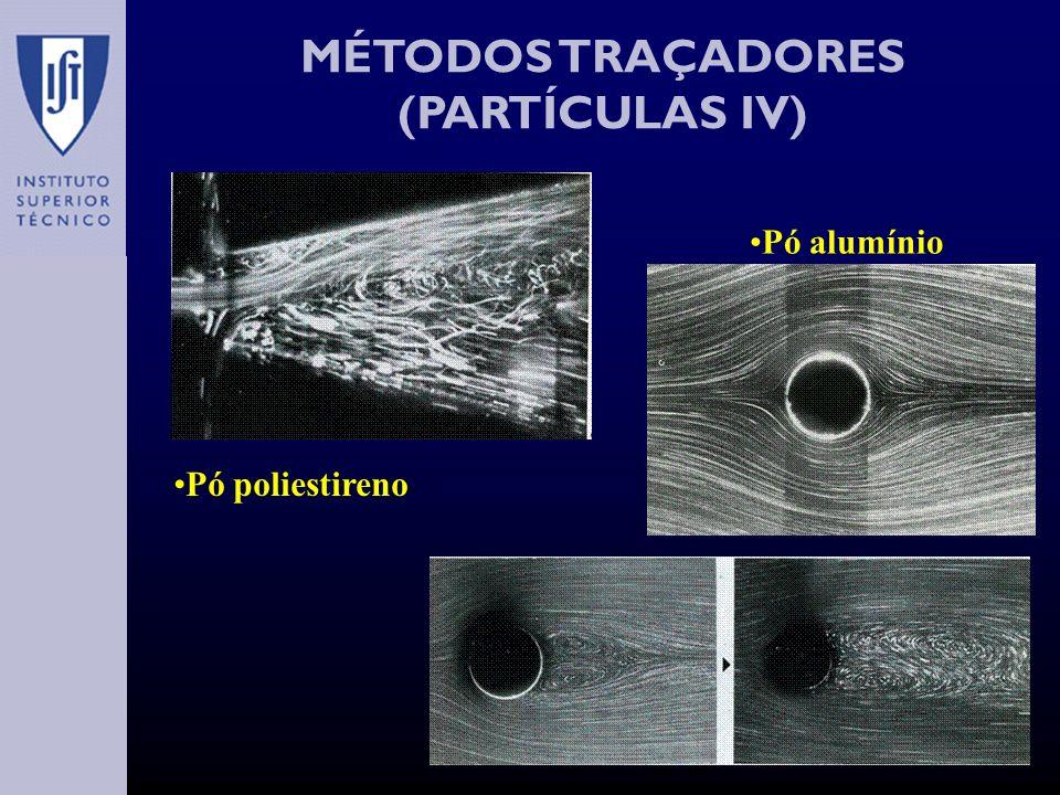 MÉTODOS TRAÇADORES (PARTÍCULAS IV) Pó alumínio Pó poliestireno