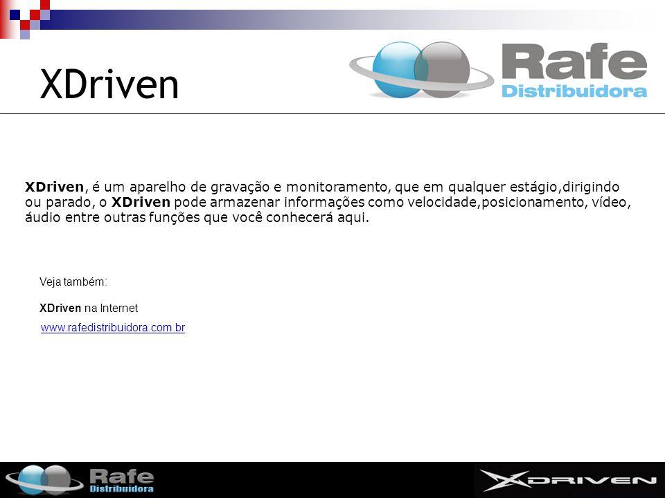 SMIT XDriven XDriven, é um aparelho de gravação e monitoramento, que em qualquer estágio,dirigindo ou parado, o XDriven pode armazenar informações com