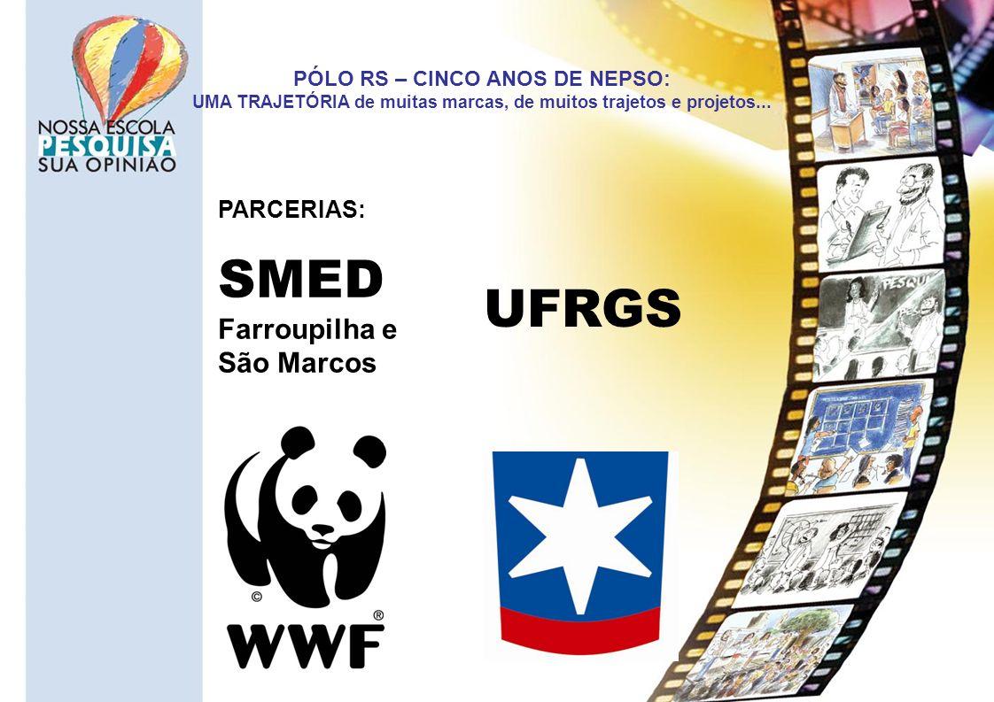 PÓLO RS – CINCO ANOS DE NEPSO: UMA TRAJETÓRIA de muitas marcas, de muitos trajetos e projetos... PARCERIAS: UFRGS SMED Farroupilha e São Marcos