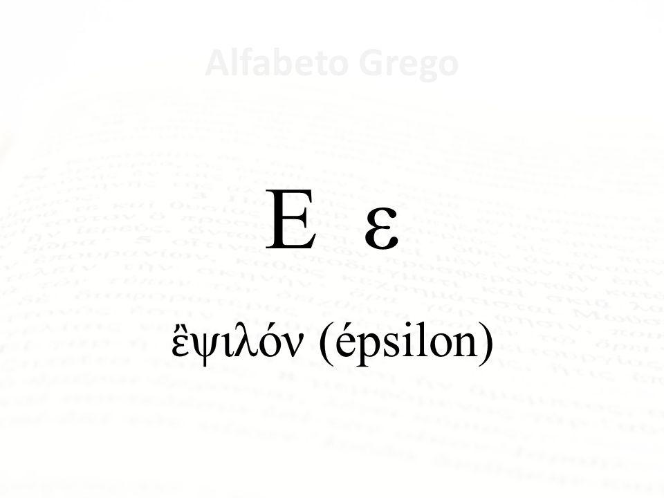 Alfabeto Grego Δ δ δέλτα (delta)