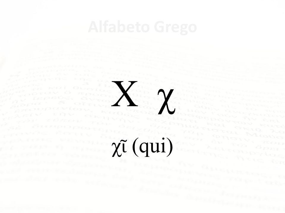 Alfabeto Grego Φ φ φ (fi)