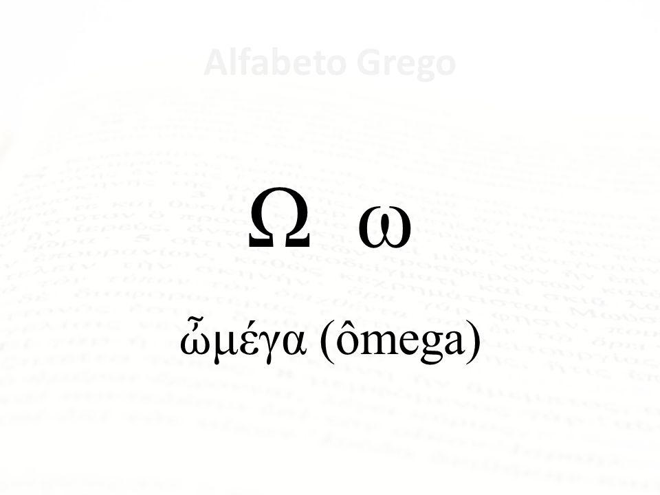 Alfabeto Grego Ψ ψ ψ (psi)