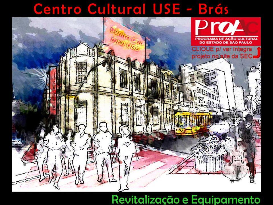 O Desafio Transformá-lo em atraente Centro Cultural apto à abrigar: Espetáculos de Teatro Música e Dança Sessões de Cinema Exposições, Festivais Congressos, Seminários Ações ligadas à Cultura e Cidadania Reformar o atual Teatro USE, situado à 300 metros do Metrô e CPTM Brás, em São Paulo Centro Cultural USE - Brás