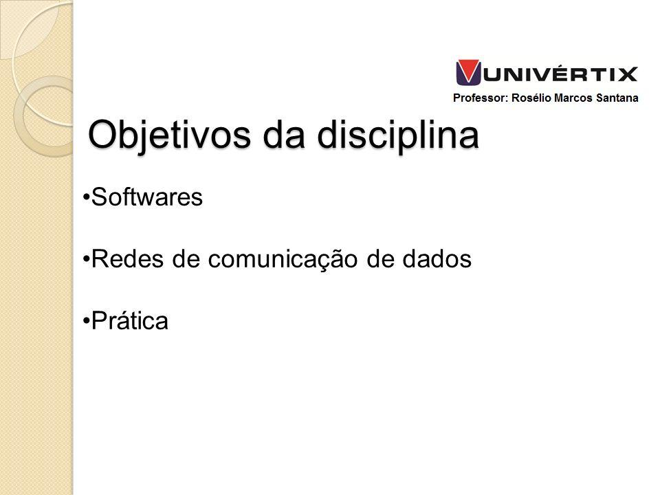 Softwares Redes de comunicação de dados Prática Objetivos da disciplina