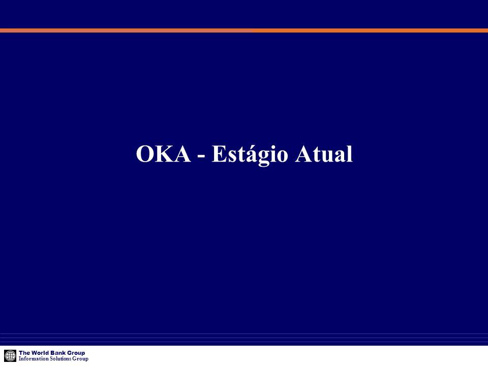 The World Bank Group Information Solutions Group OKA - Estágio Atual
