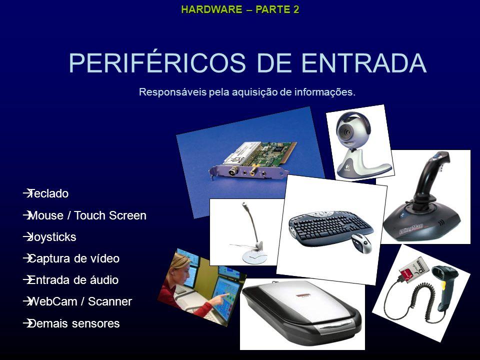 HARDWARE – PARTE 2 PERIFÉRICOS DE COMUNICAÇÃO Responsáveis pela comunicação entre dispositivos e computadores.