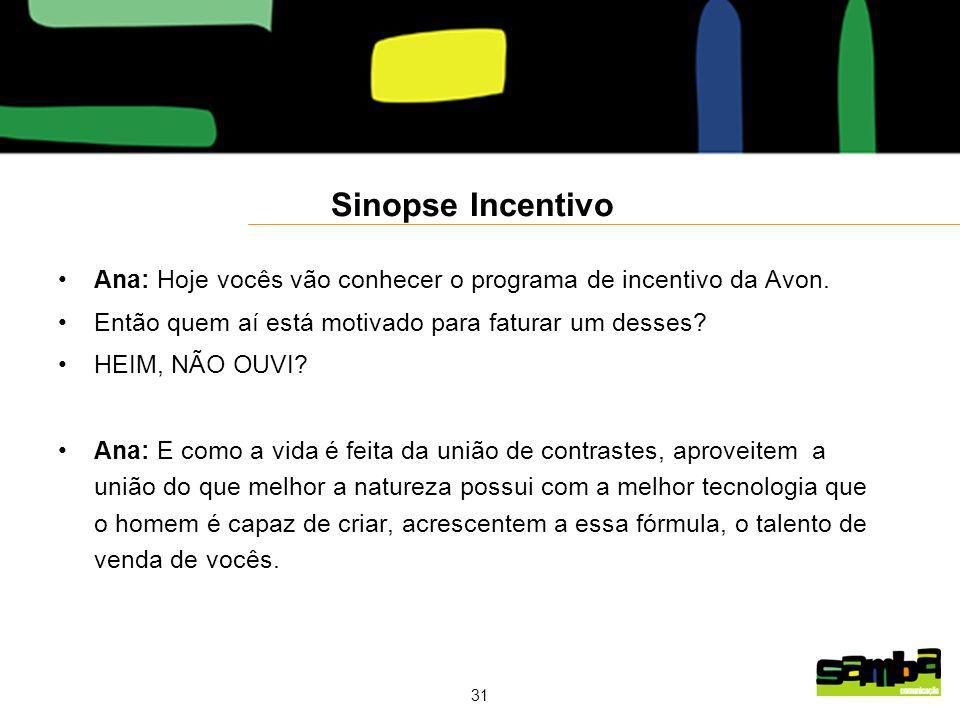 31 Sinopse Incentivo Ana: Hoje vocês vão conhecer o programa de incentivo da Avon.