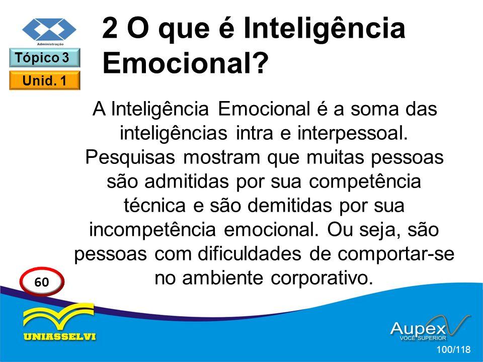 A Inteligência Emocional é a soma das inteligências intra e interpessoal.