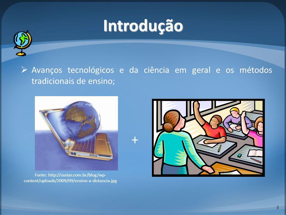 Introdução Avanços tecnológicos e da ciência em geral e os métodos tradicionais de ensino; 3 Fonte: http://usstar.com.br/blog/wp- content/uploads/2009