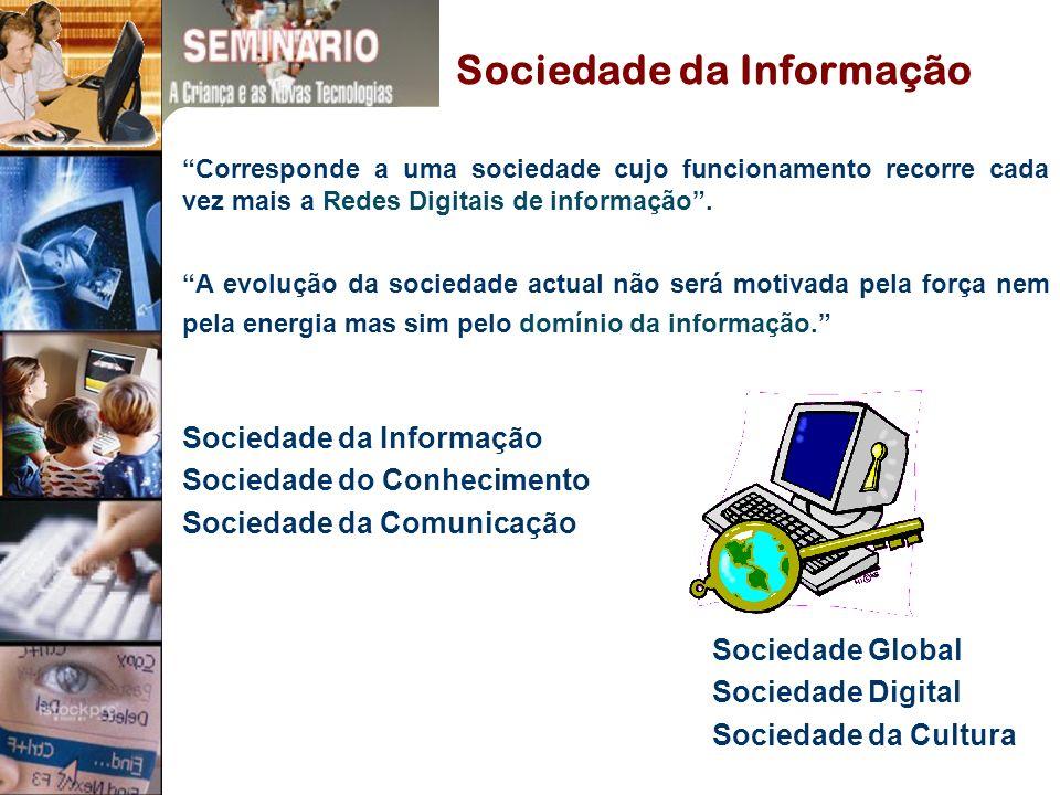 Corresponde a uma sociedade cujo funcionamento recorre cada vez mais a Redes Digitais de informação.