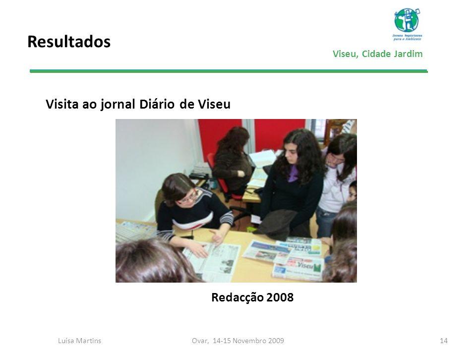 Viseu, Cidade Jardim Resultados Visita ao jornal Diário de Viseu Redacção 2008 14Ovar, 14-15 Novembro 2009Luísa Martins