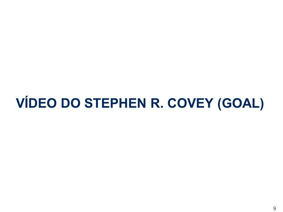 9 VÍDEO DO STEPHEN R. COVEY (GOAL)