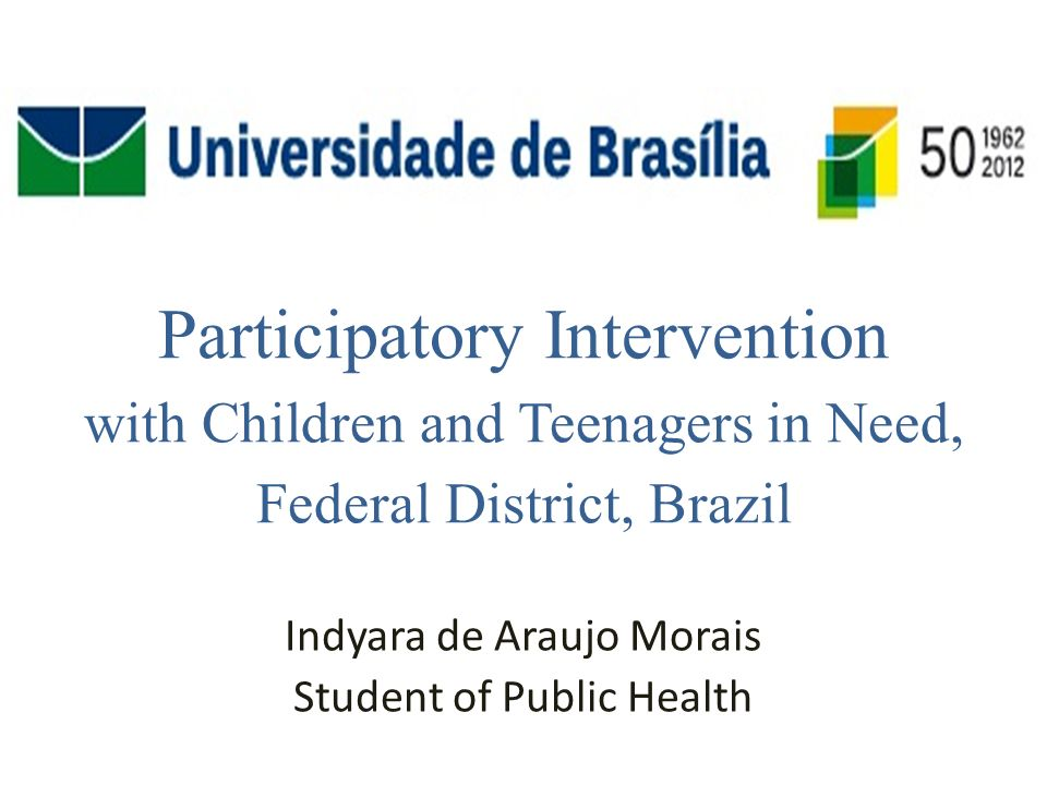 Participatory Intervention with Children and Adolescents in Need.