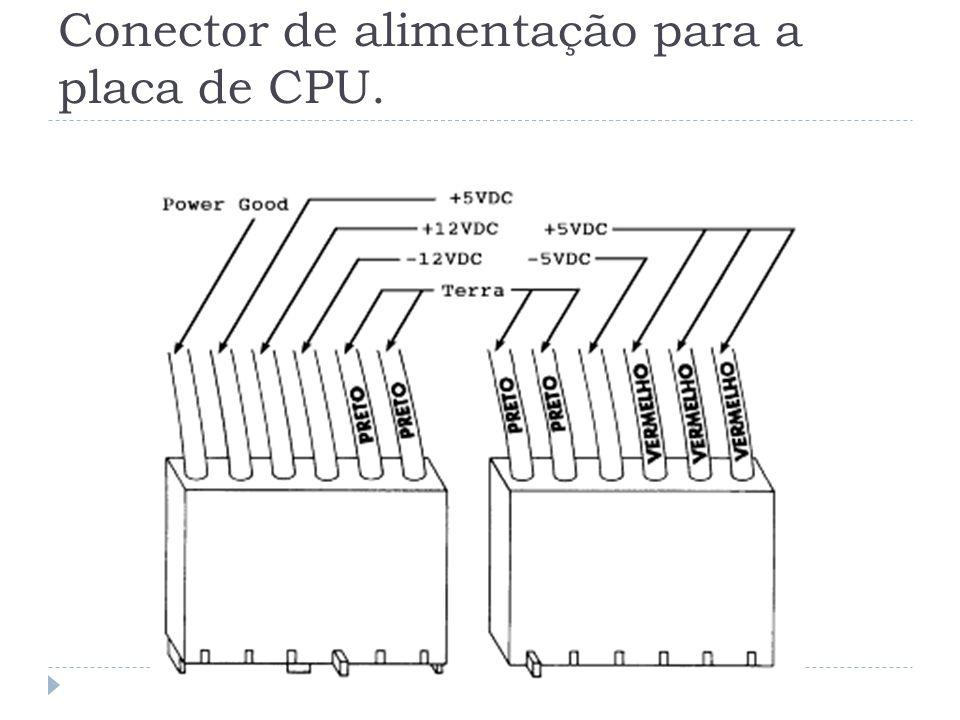 Conector de alimentação para a placa de CPU.